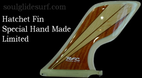 R.F.C. Hatchet Fin Exotic Wood Collection by Glen  【受注生産】