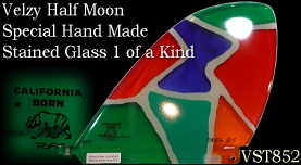 Velzy Half Moon Stainded Glass 1 of a kind VST85B