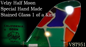 Velzy Half Moon Stainded Glass 1 of a kind VST95A