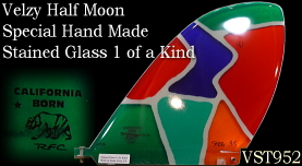 Velzy Half Moon Stainded Glass 1 of a kind VST95B