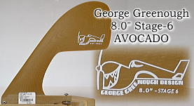"George Greenough 8.0"" Stage-6 AVOCADO SAND"