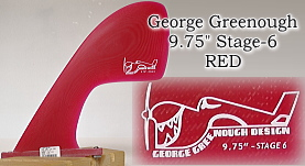"George Greenough 9.75"" Stage-6 RED SAND"