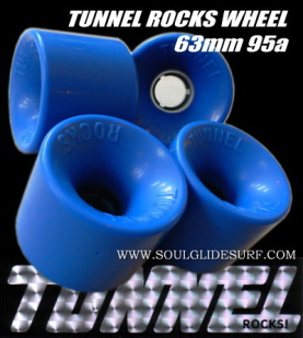 TUNNEL ROCKS WHEEL 63mm 95A BLUE 4個SET
