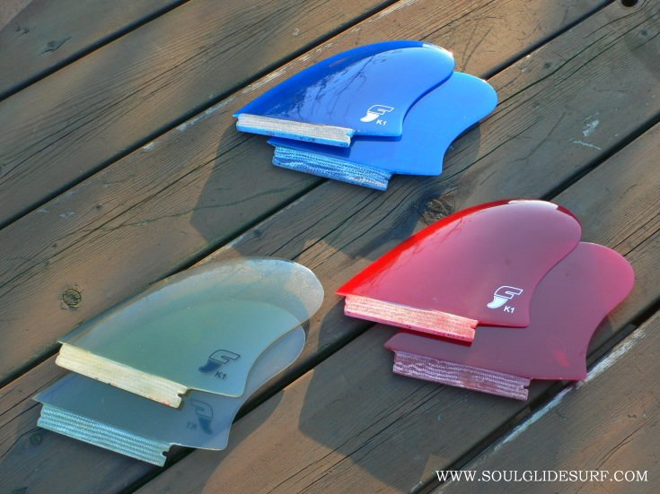 FUTURE TWIN KEEL FIN (K1) RED 2枚SET